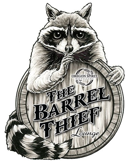 The Barrel Thief Lounge at Oregon Spirit Distillers