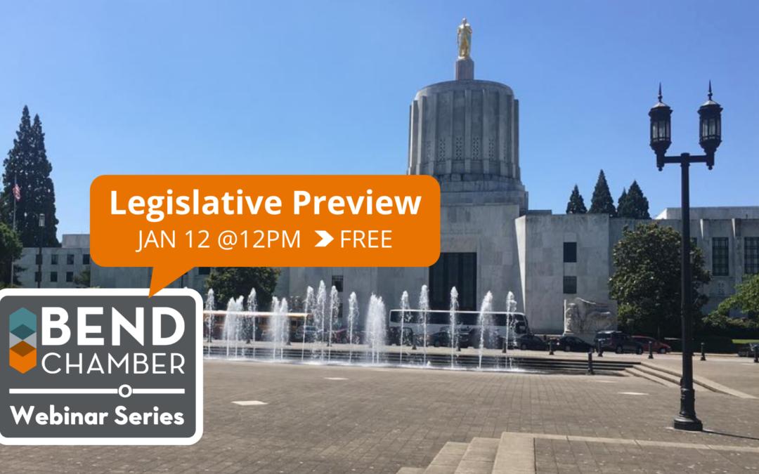 Webinar Series: Legislative Preview